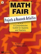 Math Fair Projects And Research Activities New Paperback Book