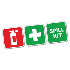 First Aid Fire Extinguisher And Spill Kit Sticker #6030K