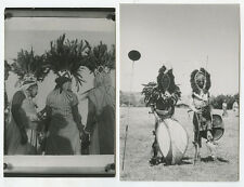 SET OF 2 VINT PHOTOS NATIVE DANCERS IN COSTUME, ZANZIBAR/KENYA, AFRICA
