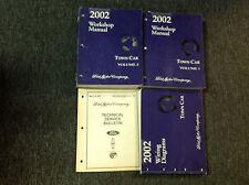 2002 FORD LINCOLN TOWN CAR Service Shop Repair Workshop Manual Set W EWD & TSB