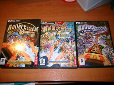 ROLLER COASTER rollercoaster TYCOON 3 GOLD PC CD-ROM ( + soaked expansion pack )