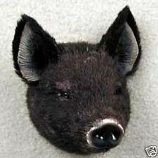 BLACK PIG! Collect Fur Refrigerator Magnets (Handcrafted & Hand painted)