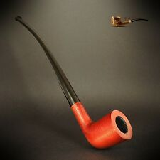 WOODEN TOBACCO SMOKING PIPE CHURCHWARDEN LONG Orange   Lord of The Ring  Hobbit