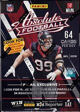 2016 Panini Absolute Football sealed blaster box 8 packs of 8 cards