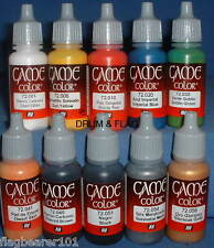 VALLEJO GAME COLOR PAINT - WARGAMERS STARTER SET - WATER BASED ACRYLIC 17ml (10)