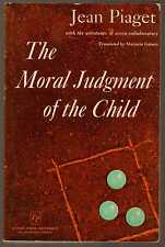 THE MORAL JUDGEMENT OF THE CHILD - Jean Piaget (1965) 1st Edition