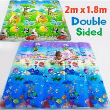 Kid Play Mat Floor Activity Rug HUGE 2mx1.8m Double Sides Ocean Animals 283