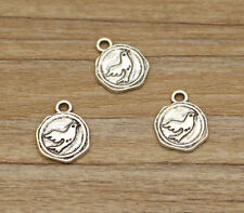 20 Peace Dove Charms Antique Silver Tone Two Sided Flying Bird Charm 13*16mm Hot