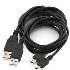 2X USB 2.0 A Male To Mini 5 Pin B Fast Charger Charging Cable Cord for Camera PC