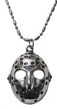 """Friday the 13th Jason's Hockey Mask Pendant Necklace with 20"""" Chain"""