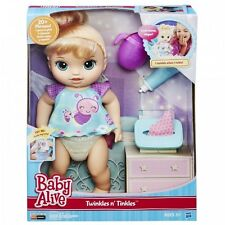 Baby Alive Twinkles N' Tinkles (Blonde) Doll Interactive Speaks English & Spa...