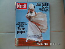 PARIS MATCH N°2916 05/04/2005 le pape JEAN PAUL 2  I26