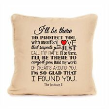 Michael Jackson Song Lyrics Throw Pillow Cushion Anniversary Love Home Gift Idea