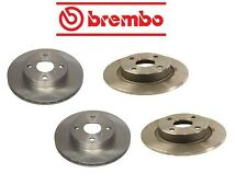 Geo Prizm 90-92 Two Front + Two Rear Disc Brake Rotors Kit Brembo OEM