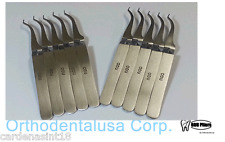 SET X 10 BUCCAL TUBES HOLDING TWEEZERS REVERSE ACTION THIN TIP ORTHODONTIC PLIER