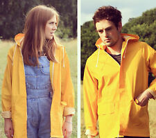 NEW YELLOW UNISEX FISHERMAN / FESTIVAL RAIN COAT / RAIN MAC / JACKET / Size M