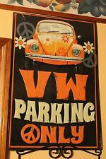 OFFICIAL VOLKSWAGEN BEETLE LOVE BUG VW PARKING ONLY EMBOSSED 3D TIN/METAL SIGN