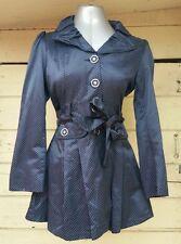 navy polka dot dressy  rain coat jacket from Ireland size 10 womens EUC Europe
