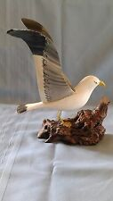 Hand carved & Hand painted Wood Seagull
