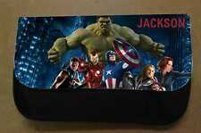 Personalised Avengers Black Pencil Case -Include Name Great Stocking Filler Boys