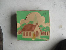 Vintage 1950s O Scale Plasticville White Church Kit in Box CC-8