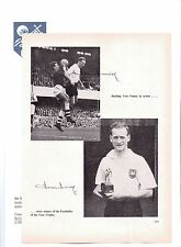 TOM FINNEY PRESTON NORTH END 1946-1960 RARE TWO ORIGINAL HAND SIGNED PICTURES