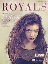 Royals Sheet Music Piano Vocal Lorde NEW 000123279