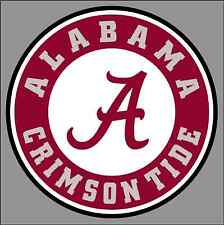 "UA University of Alabama Crimson Tide 6"" Round Logo Vinyl Decal Sticker - NCAA"