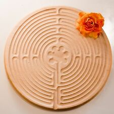 Finger-Labyrinth Fingerlabyrinth, Chartres Labyrinth zur Meditation maple wood