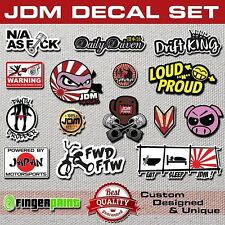 JDM DECAL SET pack sticker stickerbomb illest hella stance low life honda toyota