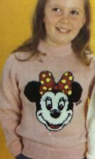 Disney Minnie Mouse Jumper ( Childrens & Adult)  Knitting Pattern
