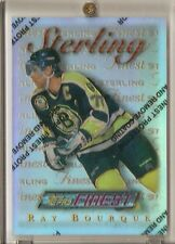RAY BOURQUE 1995-96 TOPPS FINEST UNCOMMON STERLING SILVER REFRACTOR #77 BRUINS