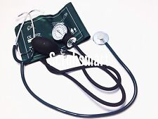 BP Blood Pressure CUFF and Economy Stethoscope Kit- Green w/ Free Ship #300