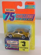 MATCHBOX GOLD 1997 75 CHALLENGE ONE OF 10,000 #3 ALFA ROMEO 155