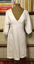 MELISSA ODABASH white beach cotton dress S UK 6-8 US 2-4