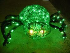 LARGE ACRYLIC LIGHTED SPIDER HALLOWEEN DISPLAY PROP - Bright Green Horror Figure