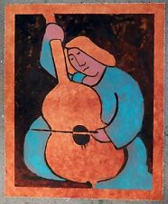 "MICHEAL JONES ""Lady with a Cello"" early original hand-signed MONOPRINT  AWESOME!"