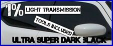 ULTRA SUPER DARK BLACK 1% LIGHT TRANSMI CAR WINDOW TINTING FILM 6mX75cm TINT+KIT