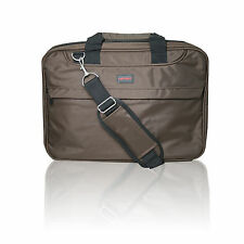 "15.6"" Eleganti Marrone Borsa per Laptop Notebook MacBook Cover Custodia Di Trasporto Cinghia a tracolla"