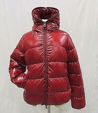 Duvetica Women's Red Thiacinque Hooded Down Full Zip Puffer Jacket Sz 48 M H310