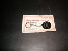 Vintage Esso Gas Oil Exxon Petroliana Key Chain Club Card MINT NOS UNUSED