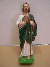 1950s Plaster Santo - Saint Jude San Judas Tadeo - Mexico