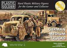 15mm GERMAN MEDIUM TRUCKS OPEL BLITZ - PLASTIC SOLDIER 1/100 - WW2 -