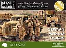 15mm GERMAN MEDIUM TRUCKS OPEL BLITZ - PLASTIC SOLDIER 1/100 - WW2 -