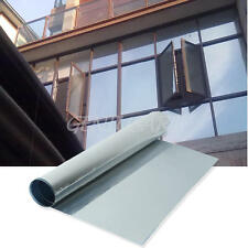 Silver Solar Reflective One Way Mirror Privacy Window Film Insulation Stickers
