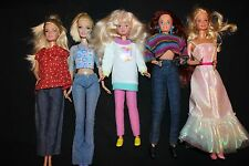 Barbie Doll Lot of 5 Mixed Years Clothes Dress Lot 4