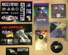 Led Zeppelin lot of 8 promo items RSD stickers pins postcards coasters