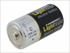 Lighthouse - Alkaline Batteries C LR14 6200mAh Pack of 2 - LR14