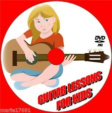 LEARN TO PLAY GUITAR FOR KIDS SIMPLE STEP BY STEP GUITAR TUITION VIDEO DVD NEW