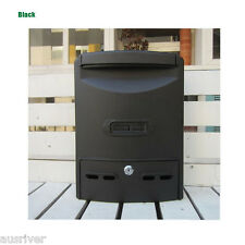 New Wall Mounted Protective Roof Letterbox Mailbox Mail Letter Box Multi Colours
